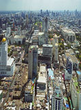 Panoramic view to the Bangkok skyline Royalty Free Stock Images