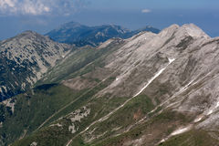 Panoramic view to Banski Suhodol Peak and Koncheto, Pirin Mountain Royalty Free Stock Image
