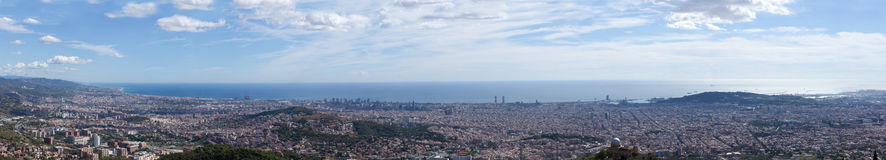 Panoramic view to Barcelona Royalty Free Stock Photography