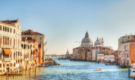 Panoramic view to Basilica Di Santa Maria della Salute Royalty Free Stock Photography