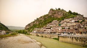 Free Panoramic View To Berat Old Town And Kisha E Shen Mehillit Aka St. Michael Church, Berat, Albania Royalty Free Stock Images - 132324999