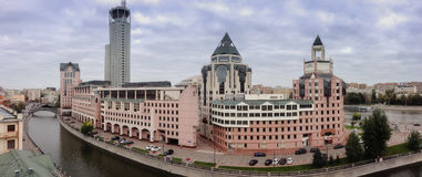 Panoramic view to business center Riverside Towers Royalty Free Stock Photo