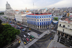 Panoramic view to the center of Havana Royalty Free Stock Image