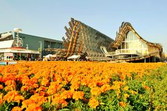 A panoramic view to the China EXPO Milano 2015 pavilion. Royalty Free Stock Images