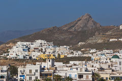 Panoramic view to City of Ermopoli, Syros, Greece Royalty Free Stock Images