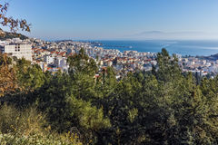 Panoramic view to city of Kavala, East Macedonia and Thrace Stock Image