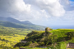 Panoramic view to the eastern part of Saint Kitts and Nevis Royalty Free Stock Photography