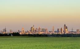 Panoramic view to Frankfurt am Main Stock Photo
