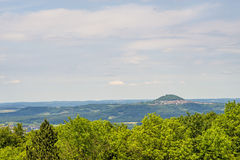 Panoramic view to the German emperor hill Hohenstaufen Stock Photo