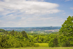 Panoramic view to the German emperor hill Hohenstaufen Stock Photos