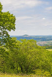 Panoramic view to the German emperor hill Hohenstaufen Royalty Free Stock Image