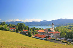 Panoramic view to gmund am tegernsee, germany Stock Photography
