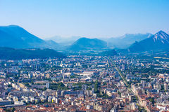 Panoramic view to Grenoble Stock Photography