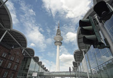 Panoramic View to Hamburg TV Tower Stock Images