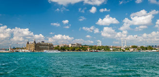 Panoramic view to Haydarpasa in Istanbul, Turkey Stock Image