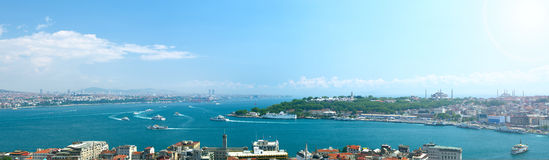 Panoramic view to Istanbul, Turkey. Stock Photography