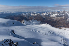 Panoramic view to Italian Alps from matterhorn glacier paradise to Alps, Switzerland Royalty Free Stock Photos