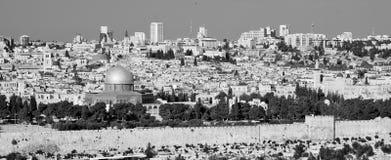 Panoramic view to Jerusalem Old city stock image