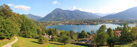 Panoramic view to lake tegernsee, germany Stock Photography