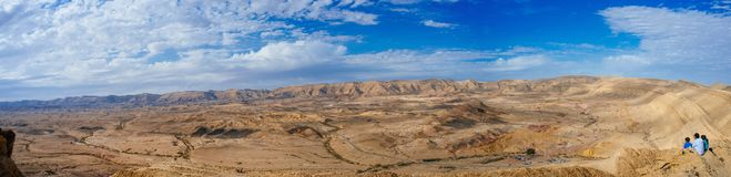 Holy land Series - The Big Crater HaMakhtesh Gadol 4. A panoramic view to the north west of the Big Crater Hamakhtesh Hagadol in the Negev.nHere is what Royalty Free Stock Images