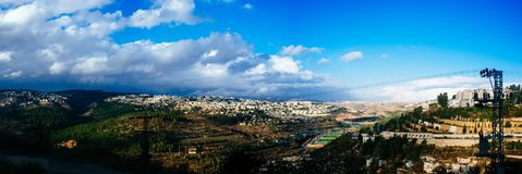 Holy land Series - Jerusalem on a stormy Day Stock Image