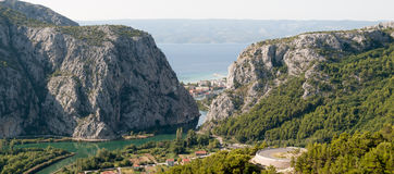 Panoramic view to Omis Royalty Free Stock Images