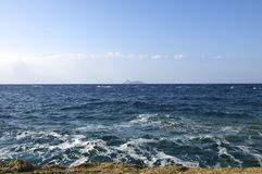 Panoramic view to the open sea Stock Photos