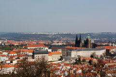 Panoramic view to Prague Stock Photo