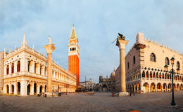 Panoramic view to San Marco square in Venice, Italy Royalty Free Stock Images