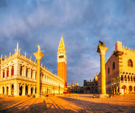 Panoramic view to San Marco square in Venice, Italy Stock Photography