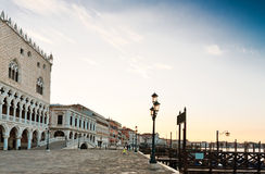 Panoramic view to San Marco square in Venice Stock Photo