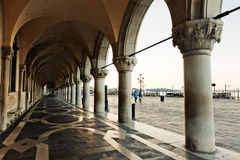 Panoramic view to San Marco square in Venice, Royalty Free Stock Photography