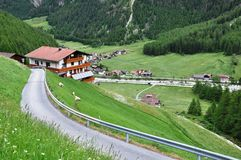 Panoramic View to Soelden, Austria Stock Photos