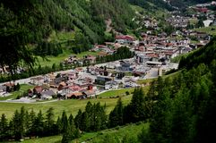 Panoramic View to Soelden, Austria. Panoramic view to Soelden, Oetztal Valley, Austria, Europe Stock Image