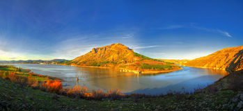 Panoramic view to Studen kladenets dam, Bulgaria Royalty Free Stock Images