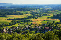 Panoramic view to the Swabian Alb Royalty Free Stock Images