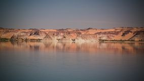 Panoramic view to Teli lake group of Ounianga Serir lakes at the Ennedi, Chad. Panoramic view to Teli lake group of Ounianga Serir lakes , Ennedi, Chad royalty free stock images
