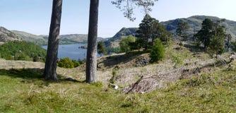 Panoramic view to Ullswater, Lake District Royalty Free Stock Image