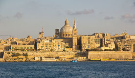 Panoramic view to Valletta Royalty Free Stock Image
