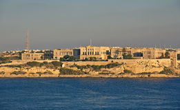Panoramic view to Villa Bighi from Valletta Stock Photography