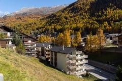 Panoramic view to Zermatt Resort, Valais, Switzerland Stock Images