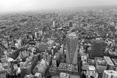 Panoramic view of Tokyo. Royalty Free Stock Image