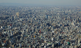 Panoramic view of Tokyo in Japan Stock Photography