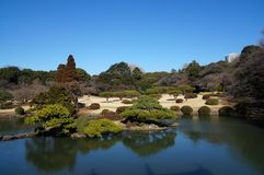 Tokyo Park Panorama. A Panoramic View of Tokyo Park in the Spring royalty free stock photos