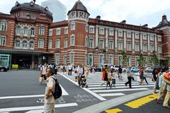 Panoramic view of Tokyo Station Stock Photo