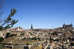 Panoramic View of Toledo. Toledo was declared a World Heritage Site by UNESCO in 1986 for its extensive cultural and monumental heritage - Spain Royalty Free Stock Images