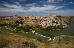 Panoramic view of Toledo Stock Photography