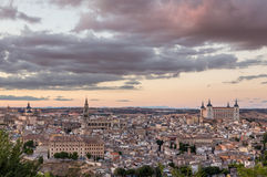 Panoramic view of Toledo city in Spain Royalty Free Stock Photos
