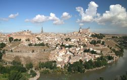 Panoramic view of Toledo, Spain Stock Photos