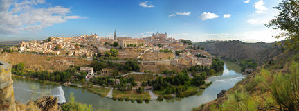 Panoramic view of Toledo in Spain Stock Image